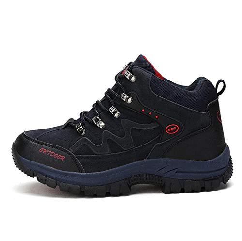 JBHURF Hommes Bottes De Randonnée en Plein Air Hautes Escalades Anti-Slip Chaussures d'escalade Doublées À Lacets Bottes de Marche pour Toute La Saison