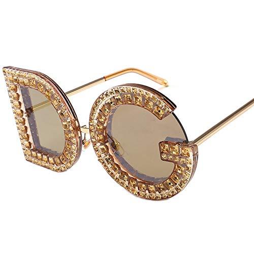 ZYG.GG Brief Sonnenbrillen Diamant-Gläser Frau Sonnenbrille Anti-UV Polarisiertes Licht Tragen Sie beständig Draussen Bewegung Urlaub,4