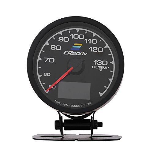 Qiilu QL05020 Misuratore della temperatura dell'olio del manometro del turbo della pressione dell'olio per auto da corsa(indicatore temperatura olio)