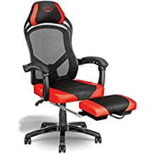 Trust Gaming GXT 706 Rona - Silla Gaming con reposapiés, ...