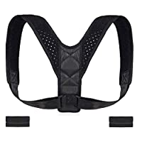 Poseimet Posture Corrector for Men and Women, adjustable Upper Back Brace for Clavicle Support, Providing Pain Relief from Neck, Back & Shoulder