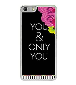 PrintVisa Love You Pattern High Glossy Metal Designer Back Case Cover for Micromax Canvas Knight 2 E471