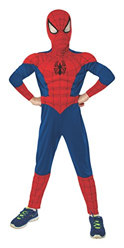(Small, One Color) - Rubie's Marvel Ultimate Spider-Man Deluxe Muscle Chest Costume, Child Small - Small One ()