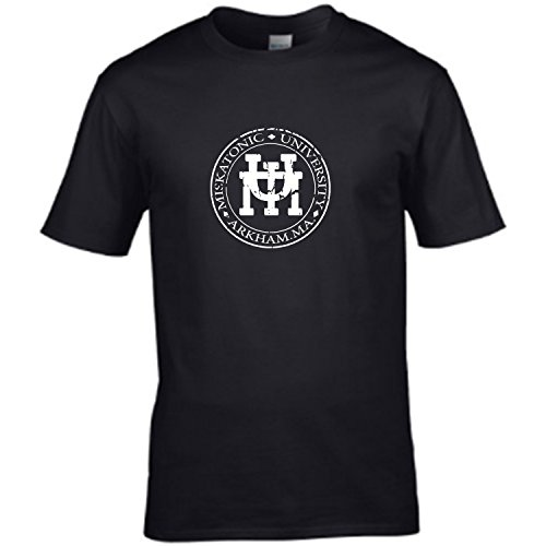 MISKATONIC UNIVERSITY EMBLEM - based on H P Lovecraft books mens t shirt