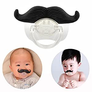 Cisixin BPA Free Newborn Baby Pacifier Soother Dummy Moustache Fun Style