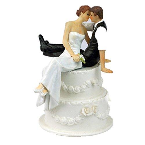 Regard Natral Harz Braut und Bräutigam Figurine Romantische Kuchen-Deckel-Harz-Fertigkeit Hochzeitsdekoration (Harz Braut Und Bräutigam-kuchen-deckel)