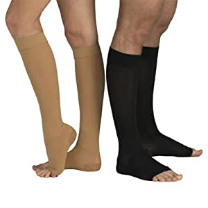 18-21 mmHg MEDICAL Compression Socks with OPEN Toe, MODERATE Grade Class I, Knee High Support Stockings without Toecap