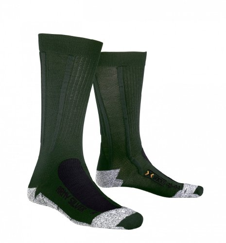 X-Socks ARMY SILVER Military + 13 fach Schut, sage green/anthracite, Gr. 3 (42-44) (3 Sage X Green)