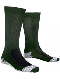 X-Socks Army Silver Military - Calcetines de compresión, color verde y gris Y1