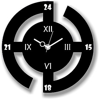Vkcollection Wooden Wall Clock for home Latest Design for Living Room Decorative...