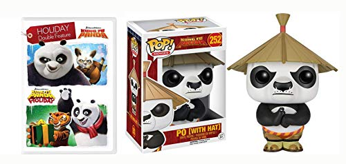 Is It Even The Holidays Without Jack Black? Kung FU Panda Urlaubspaket DVD + Funko Bundle: Kung Fu Panda / Kung Fu Panda: Holiday Double Feature Film + Po W/ Hat Funko Pop #252