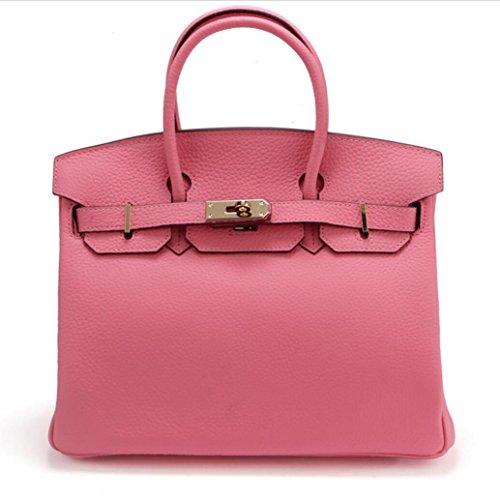 Damen Schultertaschen Leather Platinum Tasche Litchi Diagonale Tasche 4