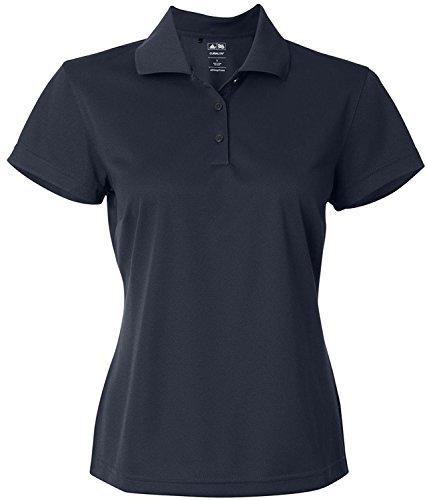 Adidas ClimaLite Basic Short Sleeve Polo, Large, Navy Blue/White