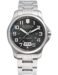 Victorinox Swiss Army Men's Automatic Watch with Black Dial Analogue Display and Silver Stainless Steel Bracelet 241373
