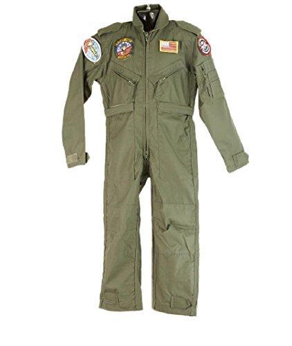 tenanzug (Größe 7 cm Brust) 134.62-144.78 cm (Kinder Top Gun Kostüme)