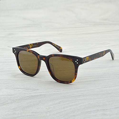 LKVNHP New Square Hochwertige Marke Polarisierte Sonnenbrille Afton Designer Vintage Sonnenbrille Herrenmode SonnenbrilleVs Braun