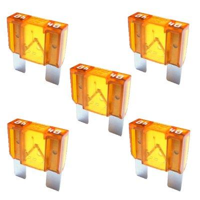 5 x Flachstecksicherung MAXI - Sicherung 40A / 32V / orange