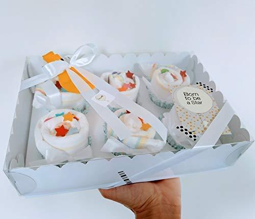 Regalo Original Recién Nacidos | Caja Cupcakes hechos