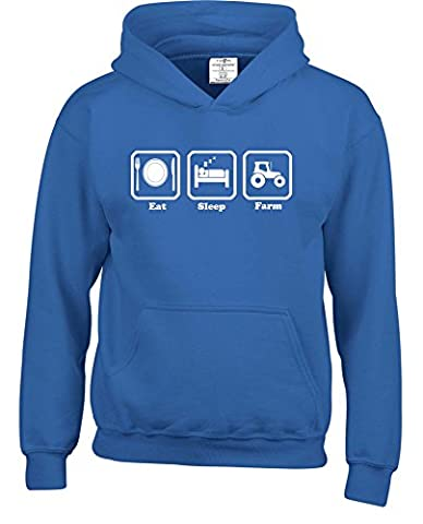 Eat Sleep Farm Kids Childrens Boys and Girls Hoodies present gift farmer tractor joke funny clothing cotton children Childrens Boys and Girls pullover hoodies hoods hooded sweatshirts . Free delivery