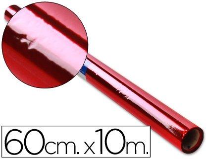 Liderpapel CL22 - Papel celofán, color rojo, 0,6 x 10 m