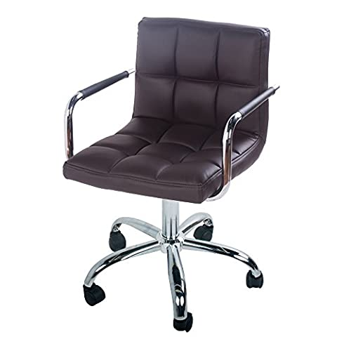 Executive Chair mid Back PU Leather Metal Frame Swivel Office Chair Life Carver® (brown)