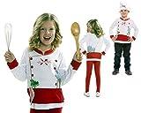 Disfraz Camiseta de Cocinero Original de Carnaval Infantil para 2-4 años de Microfibra - LOLAhome