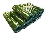 Tenda a strisce in PVC, saldature, verde, confezione per coprire 2 m di larghezza, 10 strisce, 1,83 m di lunghezza, occhiellate e complete di anelli apribili