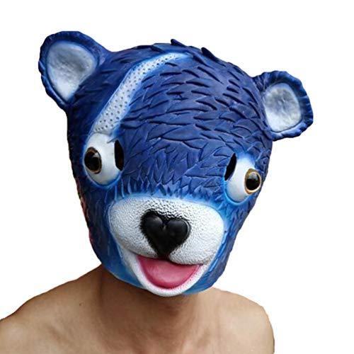 Yiiquanan Cosplay Kostüm Halloween Horror Maske Latex Karneval Festival Voller Gesichtsmaske für Erwachsene Kinder (Blau#1, One Size)