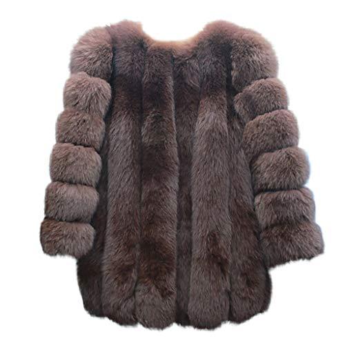 Bufuda capispalla spessa calda delle donne cappotti di visone invernale giacca in pelliccia sintetica