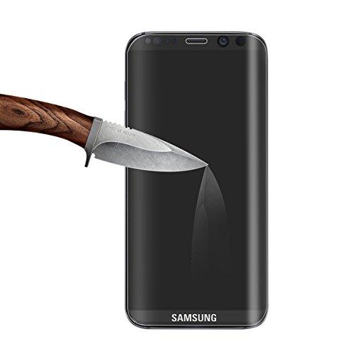 Samsung Galaxy S8 Plus Protector de Pantalla,BIGMEDA Vidrio Templado Cobertura Completa Anti-Scratch Reutilizable Cristal Película Protectora para Samsung Galaxy S8 Plus
