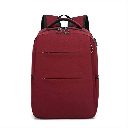 F-JX Unisex-Reise-Laptop-Rucksack mit USB-Ladeanschluss, Schlanke, leichte Laptoptasche, wasserdichte Aktentasche, Professioneller Business-Rucksack für Reisen/College/Arbeiten,Red -