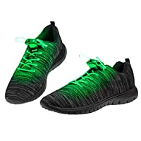 UltraByEasyPeasyStore LED Shoelaces Light Up Shoe Laces Flashing Fibre Glow Laces Adults Kids Party