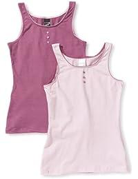 Schiesser Camiseta interior para niña, pack de 2