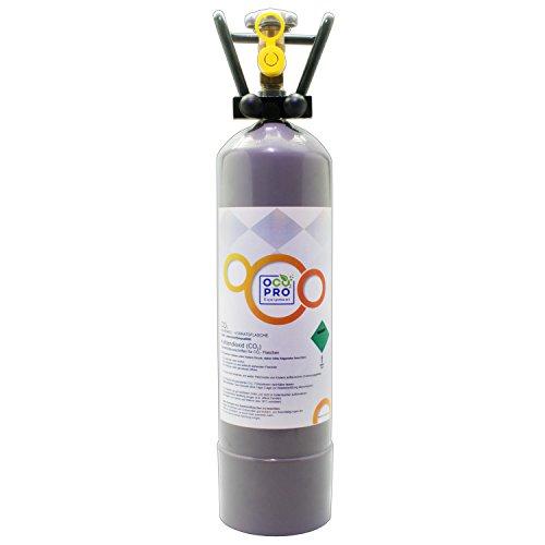 OCOPRO CO2 Flasche 2Kg TÜV bis 2029, GEFÜLLT für Aquarien Kohlensäureflasche NEU