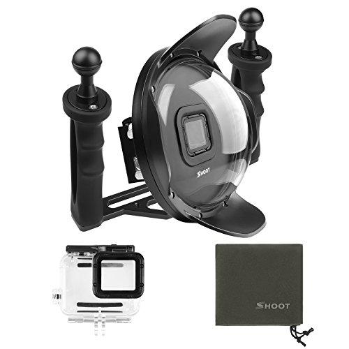 SHOOT Subacqueo Stabilizzatore Vassoio Porta Dome Cappuccio per GoPro Hero 7 Nero/HERO 5/6 /HERO (2018) Videocamera Immersione,6 pollici