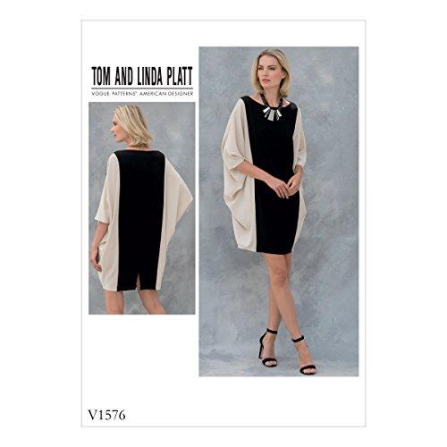 Vogue American Designer-muster (Vogue Mustern 1576OS, Schnittmuster Kleid, Größen 6-22, Tissue, Mehrfarbig, 20x 0,5x 25cm)