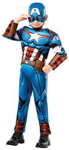 Captain America Avengers Deluxe Kostüm für Kinder - Gr. L (7-8 Jahre)