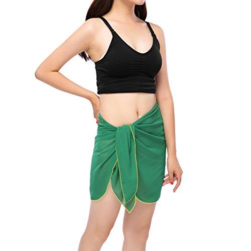 iBaste 2017 neue Damen Sexy modern Stoffdruck Strandrock Strandkleider  bikinihosen Cover Up Olivgrün