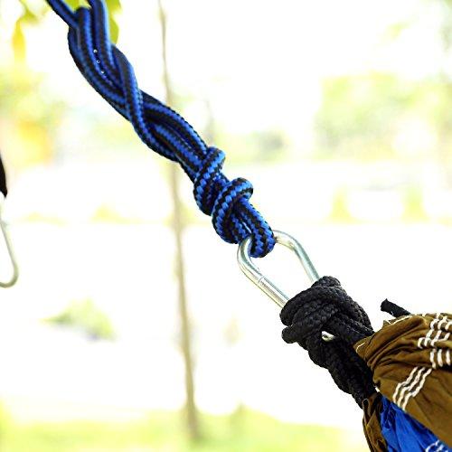 LEADSTAR 300×200 cm Mehrpersonen Nylon Hängematte Ultraleicht Tragbar Belastbarkeit bis 300kg – Orange - 5
