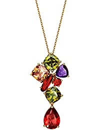 Swasti Jewels Gold Plated Pendant With CZ Stone Fashion Jewellery For Women