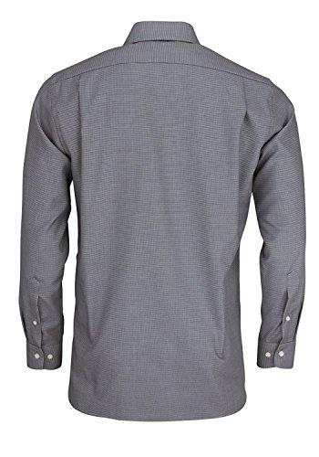 OLYMP Modern Fit Hemd extra langer Arm Patch Muster schwarz AL 69 Schwarz