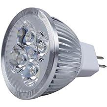 SODIAL(R) LED MR16 Luz de Foco 12V 4W (340 Lumen - Equivalente a 50 vatios) 3200K Calor Angulo de Haz 45 Grados