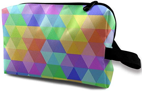 Color Stereoscopic Toiletry Bag Waterproof Fabric Cosmetic Bags Travel Case For Women's Accessories -