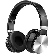 VicTsing Auriculares Bluetooth de diadema Plegables Con micrófono. Bluetooth Inalámbricos con Sonido Estéreo y Cancelación de Ruido Hasta 8 HORAS de Reproducción Para PC, Movil (Con Cable aux de 3,5mm ) - Plata