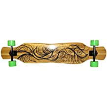 Koston Bamboo Longboard Complete Cruiser Board Dancer Gan Jiang 46.0 x 9.0 inch - Professional Longboard Carver - Dance Carving Longboard