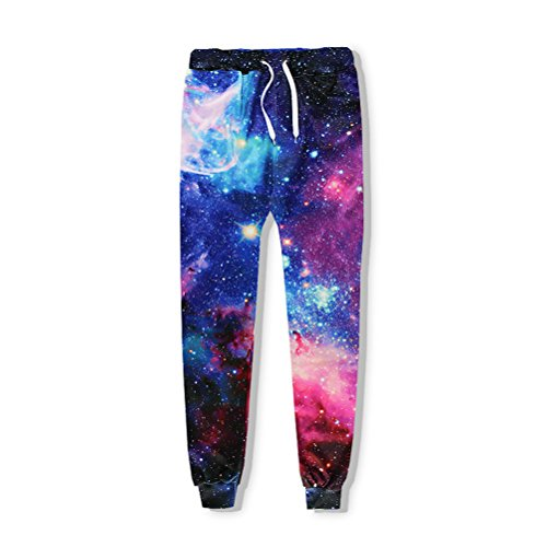 Fashion Casual Hosen Männer Jogger Hose Galaxy Space Nebula 3 D Drucken Schweiß Hip Hop Fitness Trainingshose (Aeropostale Jeans)