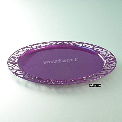 Adiserve sous-Assiette Ronde 30 cm Pourpre pailletée par 4