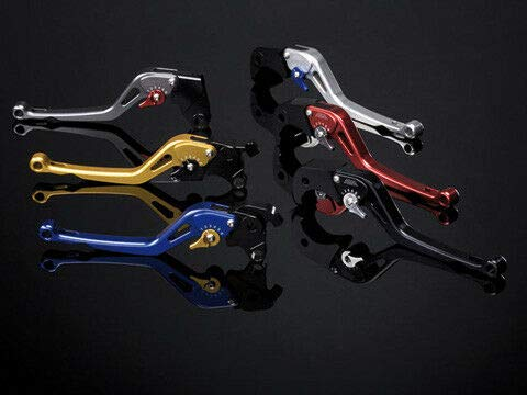 Générique A 403-KH31-14-12-L Synto clutch lever blue lever gold adjuster long version for compatible avec GPZ 500 S etc.