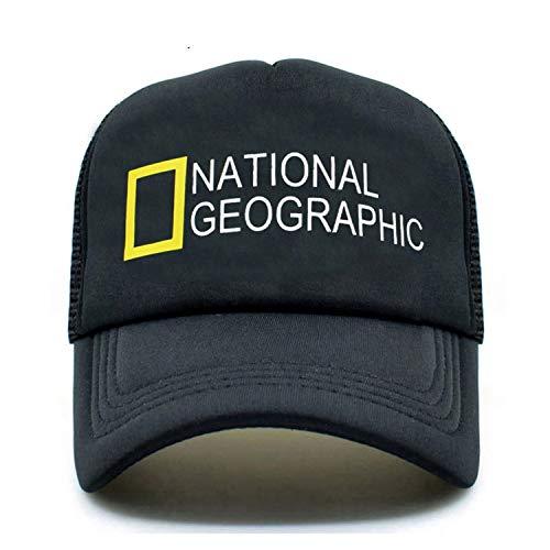 d9c89f14684 ENGXING Berretto da Baseball di National Geographic Trucker cap cap Hat New  Summer Cappellini Neri Hip