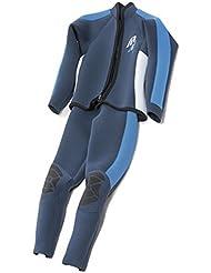 Ascán dos piezas Júnior Jobe traje de surf traje 2,5 mm 2 piezas, color - azul, tamaño 172